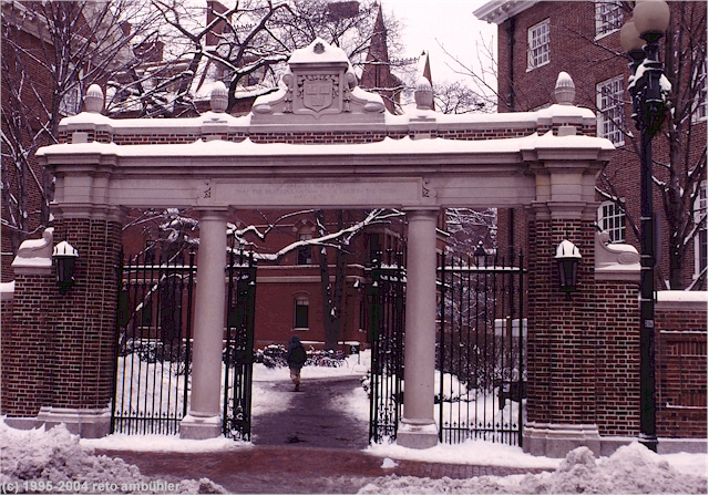 snow covered entrance ...